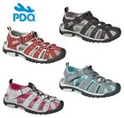 Ladies Womens Summer Closed Toe Hiking Walking Sandals Toggle & Strap Fastening