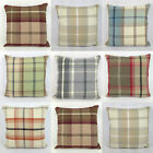 "Warm Highland Tartan Checked Brushed Fabric 16"" x 16"" Cushion Cover Pillow Case"