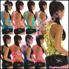 Sexy Ladies Embroidery Top Womens Mesh Summer Casual Vest Top One Size 6,8,10,12