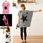 Hot Women Fashion Batwing Short Sleeve T-Shirt Sexy Star Print Loose Tops Blouse