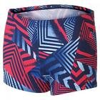 Boy's Geo Wave Hip Racer Swim Shorts In Multi-Coloured From Zoggs (602015023)