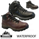 MENS GROUNDWORK WATERPROOF LEATHER WALKING HIKING WINTER WORK BOOTS SHOES SIZE