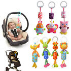 New Cartoon Animal Plush Mobile Baby Kids Car Rattle Multicolor Bed Hanging Toys