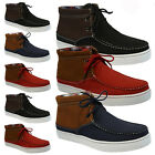 MENS SUMMER CASUAL BOAT LACE UP HI TOP BOOTS ANKLE DESERT TRAINERS SHOES SIZE
