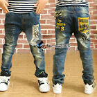 Spring Boy Baby Child Kids Easier R Yellow Pockets Jeans Pants Trousers 3-10Y
