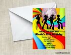 Disco 70's Retro Party Invitations Personalized