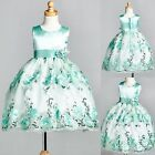 Flower Girl Bridesmaid Embroidery Dress S M L XL 2 4 6 8 10 12 14 Easter #09
