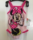 DISNEY BABY,1 PIECE,NWT Girls SWIM SUIT,Minni Mouse,PINK DOT, 0-3,3-6,6-9 Mo, KM