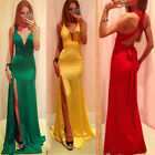 Sexy Hot Lady's Cut Out SideSlit Bandage Slim Bodycon Cross Party Maxi Dress