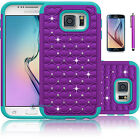 Heavy Impact ShockProof Bling Crystal Case Cover For Samsung Galaxy S6 /S6 Edge