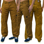 MENS ZICO JEANS COMBAT CARGO REGULAR FIT PULL TIES CORDUROY CHINO PANTS **SALE**