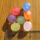 60 8mm faceted translucent beads plastic acrylic choice of colour opalescent