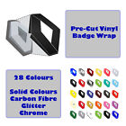 Renault Clio Mk2 Front Rear Badge Wrap Set 14 Colours Black Silver Carbon Red