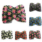 Fashion Chic Stretch Rose Flower Bow Glass Bead Hair Comb Double Insert Clip