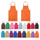 Plain Apron Front Pocket For Chefs Cloth Butchers Kitchen Cooking Craft