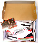 BRAND NEW 100% AUTHENTIC 2007 NIKE AIR JORDAN III 3 FIRE RED BLACK CEMENT RARE