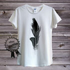 BLACK FEATHER T-Shirt by BlackBarrel For Men Women Fitted World Problem Fashion