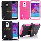 New Defender Series Case for Samsung Galaxy Note 4 w / Holster Belt Clip