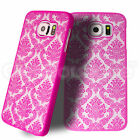 Hard Back Damask Case Cover for New Samsung Galaxy S6 FREE Screen Protector