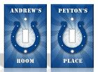 PERSONALIZED Indianapolis Colts Light Switch Covers NFL Football Home Decor on eBay
