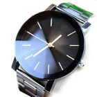 Fashion Women Men Stainless Steel Watches Analog Quartz Movement Wrist Watch