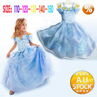 Cinderella Girls Classic Princess Cosplay Costume Kids Childs Party Dress Glamou