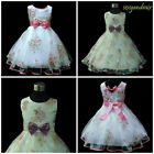 X'mas Purple Pinks Bridesmaid Wedding Party Flower Girls Dresses Age 2 to 9 Y