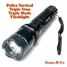 Stuns R Us POLICE 75 Million V Stun Gun Rechargeable LED Flashlight + Taser Case