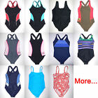 One-Piece Swimsuit Tank Suit Bathing Suit unlined Ladies 1pc swimmer M L XL Plus