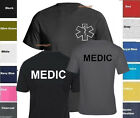 MEDIC T-Shirt Emergency Medical Services Service Shirt -TWO SIDES PRINT SZ S-5XL