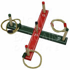 FAMILY QUOITS GARDEN WOODEN GAME WOODEN PEGS ROPE HOOPLA INDOOR OUTDOOR FUN NEW