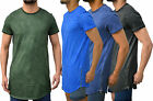 Mens Designer Genetic Apparel T-Shirt longline Tee Top T Side Zip 4 Washes GA143