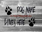 PERSONALIZED Dog Lives Here Original Signed Handmade Matted Picture A765