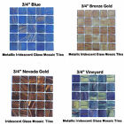 """50 pcs - 3/4""""   Metallic Mosaic Glass Tile Groups for you Mosaic Projects"""