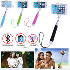 Extendable Handheld Wired Selfie Stick Monopod Holder For iPhone Samsung Galaxy
