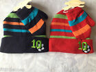 LITTLE BABY/INFANTS BOYS 2 PIECE,HAT & MITTENS SET,STRIPE NO10 FOOTBALL,0-24MTHS