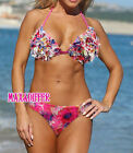 Sexy Flower Ruffle Colorful Applique bikini SWIMSUIT SWIMWEAR US SIZE S M L XL