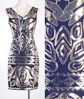 Vintage 1920's Great Gatsby Sequin Gold Dress Art Deco Nouveau Clubwear RD 3287