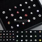 Wholesale Body Jewelry Mix Lots Crystal Nose Studs Pin Piercing W Display