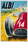 Vintage 1950s French Motor Racing Poster Circuit d'Albi Les Planques Sport Print