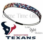 Houston Texans Team Color Womens Rhinestone Bling Headband Wear w/ Jersey NWT