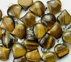 FREE P&P - 18 mm (-/+) Tigers Eye heart shaped pendant / necklace x 1