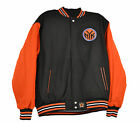 New York Knicks Two Tone Men's Wool Reversible Jacket kni103ttr2-blk org
