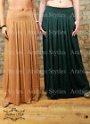 ♡ MAXI PLEATED JERSEY SKIRT SIDE POCKETS LONG MAXI FLARED HIGH/LOW WAIST HIJAB ♡