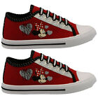 **GIRLS DISNEY MINNIE MOUSE CANVAS LACE SHOES RETRO PUMPS PLIMSOLLS TRAINERS Z*