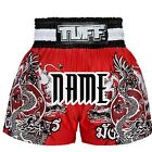 TUFF Muay Thai Boxing Shorts Customize Free Add Name 140 Red (N) Kick Boxing