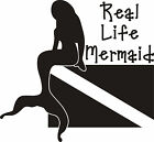 Real Life Mermaid Decal Sticker- Diver Flag Sticker Decal - Free Shipping! 10""