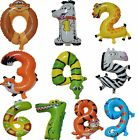 "16"" AIR FILL ANIMALS NUMBER0 1 2 3 4 5 6 7 8 9 BALLOON BIRTHDAY PARTY SUPPILES"