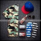 Fashion Men Summer Camouflage Shirt Short Sleeve Army Top Tee T-shirt