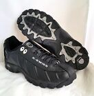 K Swiss Black Silver Lace Up Mens Shoes Sizes 7.5 - 12 ST329